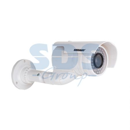 Муляж камеры уличной, цилиндрическая (белая) REXANT муляж камеры proline pr 116b