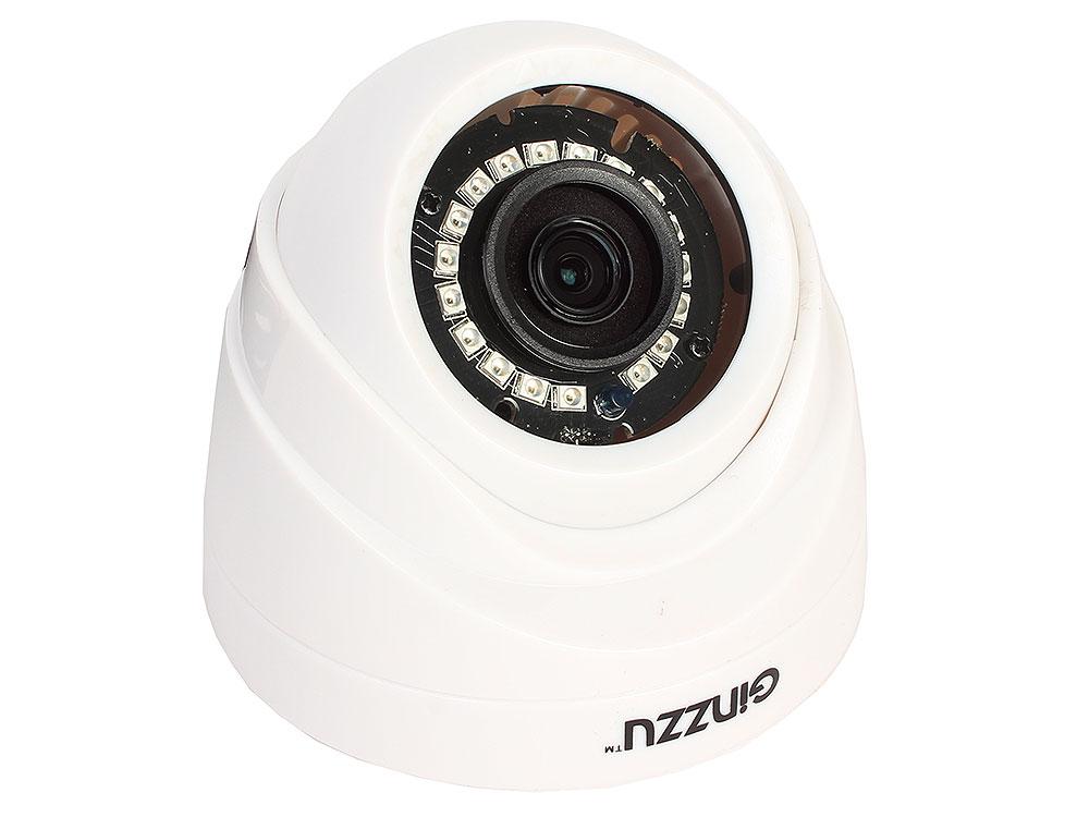 Камера Видеонаблюдения GINZZU HAD-1032O AHD 1.0Mp OV9732, 3.6mm,купол,IR 20м,пластик камера видеонаблюдения orient ahd 10g on10c ahd 10g on10c