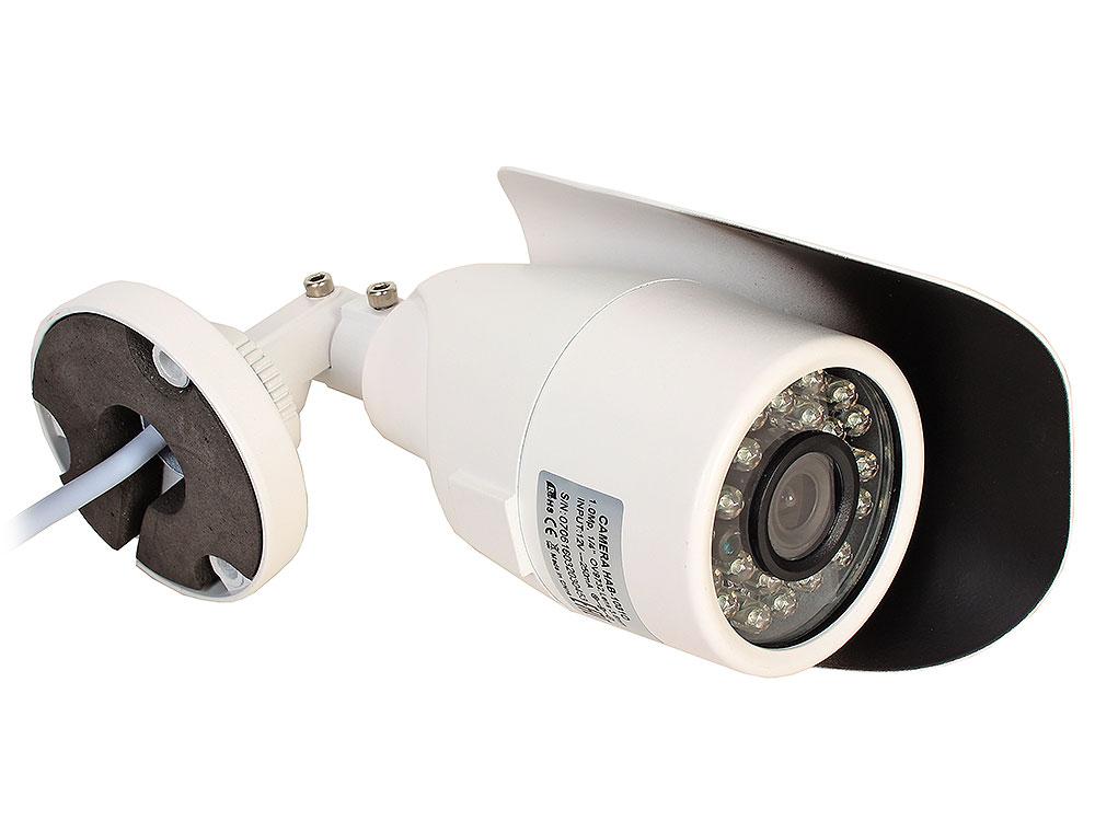 Камера Видеонаблюдения GINZZU HAB-1031O уличная камера AHD 1.0Mp (1/4 OV9712 Сенсор, ИК подстветка до 20м, металлический корпус, защита IP66 камера видеонаблюдения купольная уличная rexant 45 0134