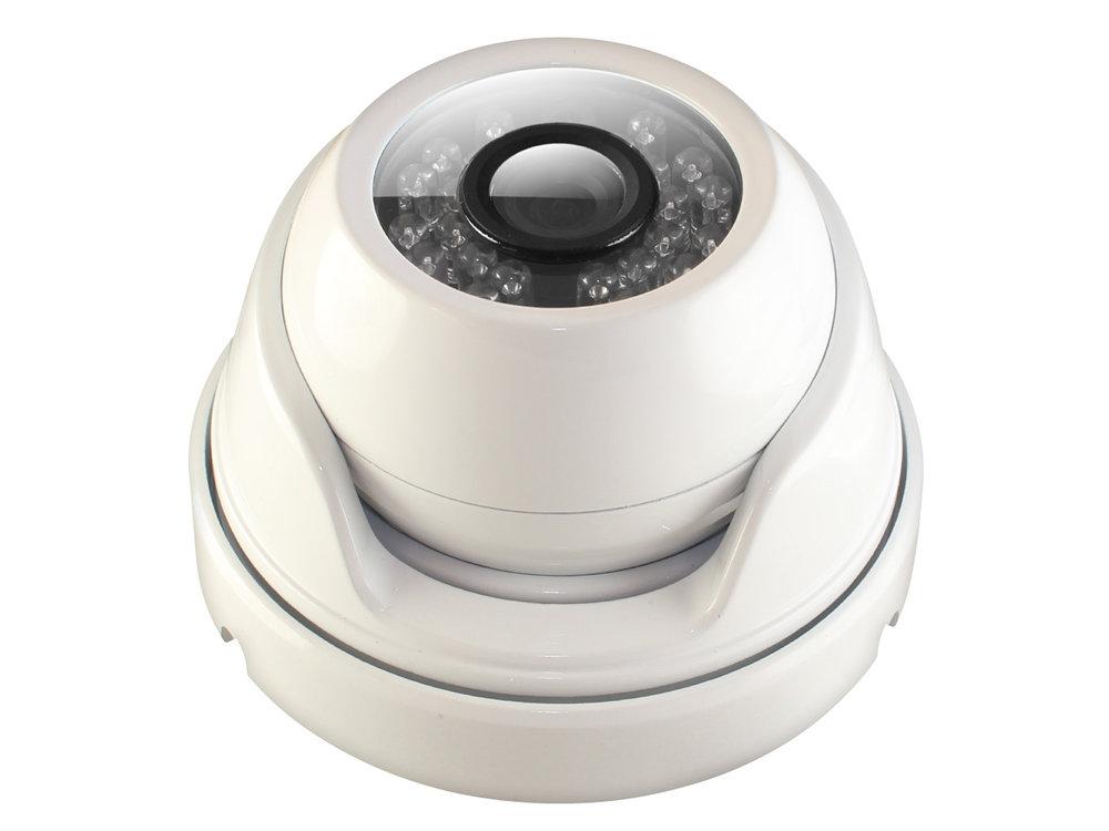 """Камера Видеонаблюдения GINZZU HAD-1034O купольная камера 4 в1 (AHD,TVI,CVI,CVBS) 1.0Mp (1/4"""""""" OV9732 Сенсор, ИК подстветка до 20м,"""