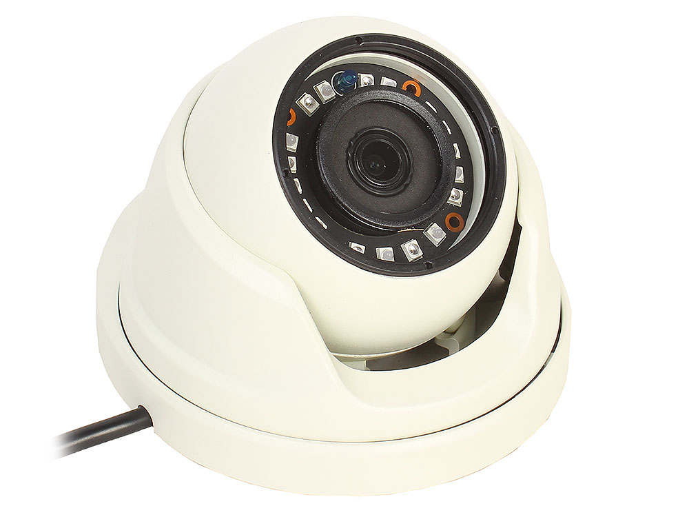 Камера Видеонаблюдения GINZZU HAD-2032A купольная камера 4 в1 (AHD,TVI,CVI,CVBS) 2.0Mp (1/2.7