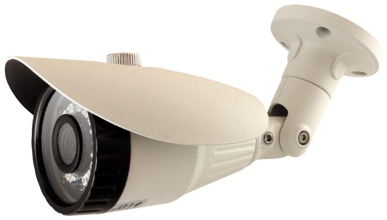 "Камера Видеонаблюдения GINZZU HAB-2032A уличная камера 4 в1 (AHD,TVI,CVI,CVBS) 2.0Mp (1/2.7"""" AR0237 Сенсор, ИК подстветка до 20м,"