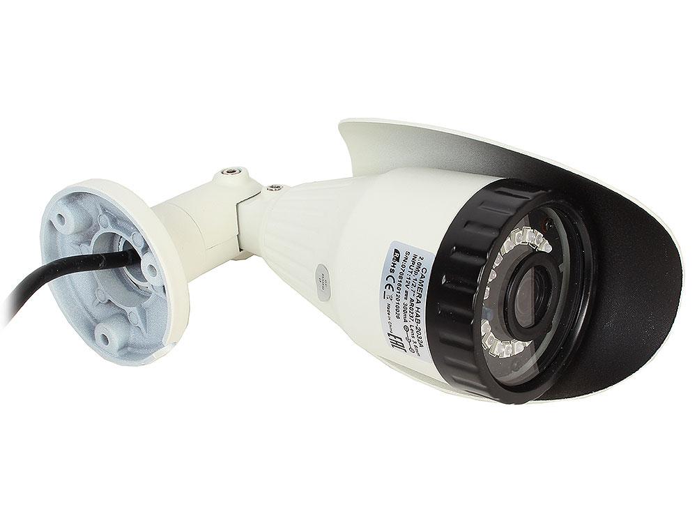 Камера Видеонаблюдения GINZZU HAB-2032A уличная камера 4 в1 (AHD,TVI,CVI,CVBS) 2.0Mp (1/2.7