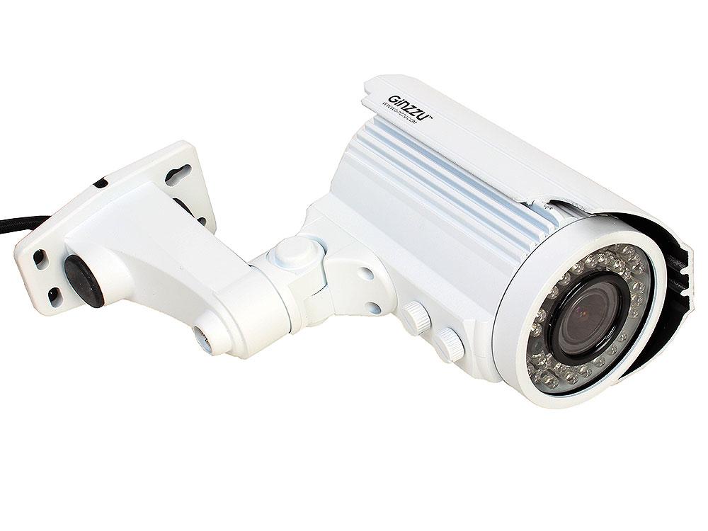 Камера Видеонаблюдения GINZZU HAB-20V1P уличная камера 2 в 1 (AHD, CVBS) вариофокальная 2.0Mp (2.8-12мм, 1/2.7