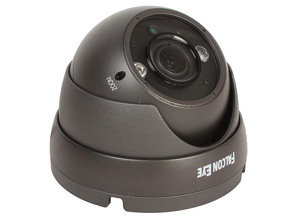 Камера Falcon Eye FE-IDV720AHD/35M (серая) Уличная купольная цветная AHD видеокамера 960P камера видеонаблюдения falcon eye fe idv960mhd 35m 2 8 12мм цветная