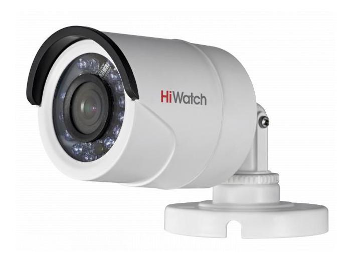 Камера HiWatch DS-T100 (2.8 mm) 1Мп уличная цилиндрическая HD-TVI камера с ИК-подсветкой до 20м 1/4 CMOS матрица; объектив 2.8мм; угол обзора 92°; ip камера hiwatch ds i122 4 mm 1 3мп уличная купольная мини ip камера ик подсветкой до 15м 1 3 cmos матрица объектив 4мм угол обзора 73 1° ме