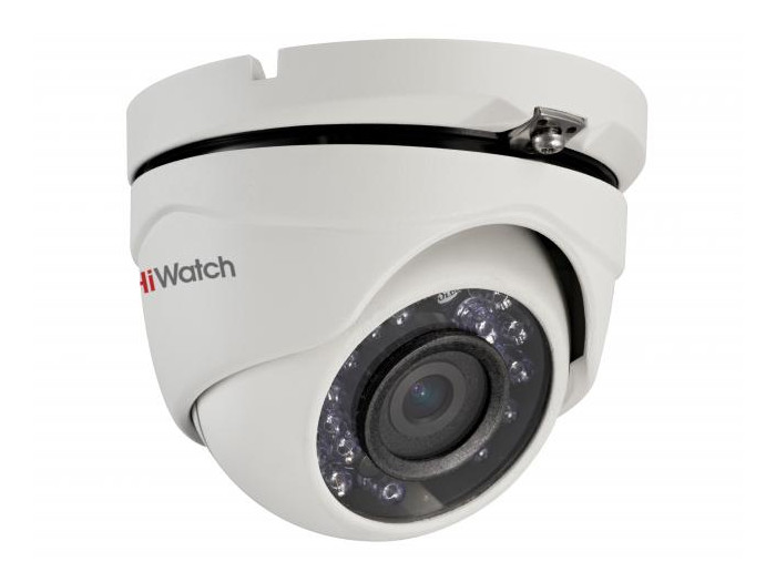 Камера HiWatch DS-T103 (3.6 mm) 1Мп уличная купольная HD-TVI камера с ИК-подсветкой до 20м 1/4 CMOS матрица; объектив 3.6мм; угол обзора 70.9°; меха ip камера hiwatch ds i126 2 8 12 mm 1 3мп уличная цилиндрическая ip камера с ик подсветкой до 30м 1 3 progressive scan cmos объектив 2 8 12мм у