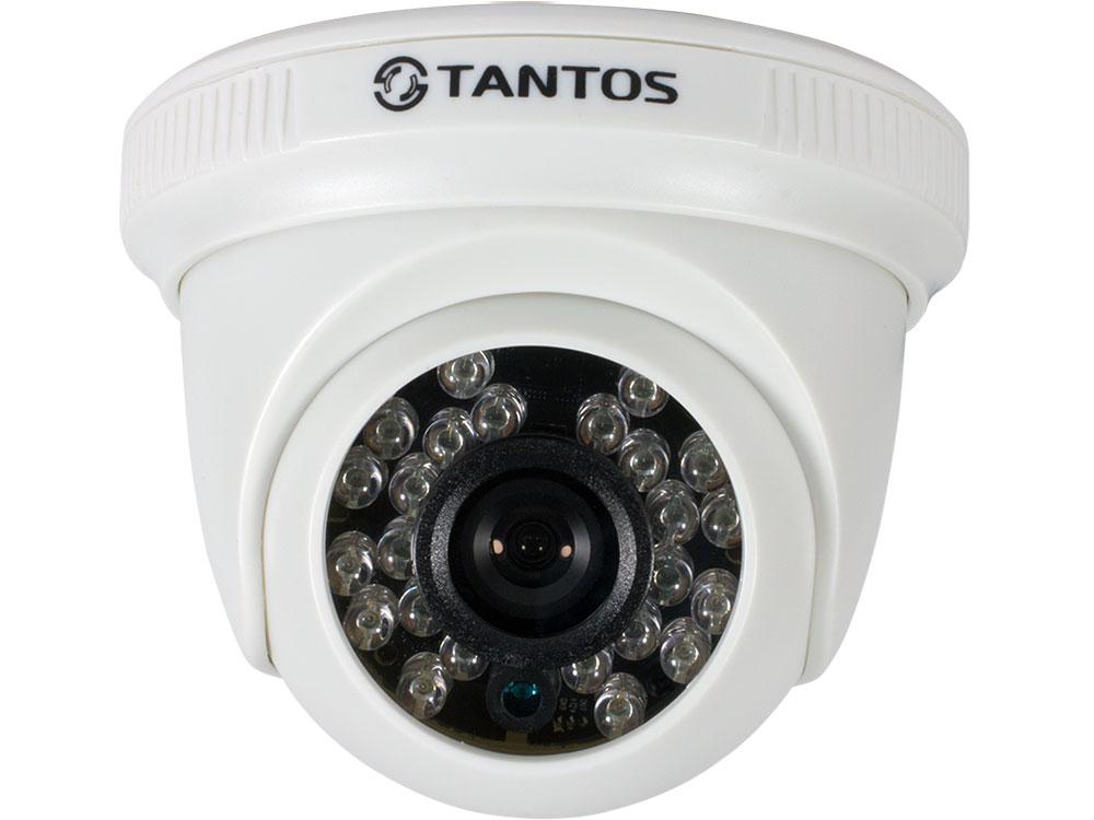 Камера TANTOS TSc-EBecof1 (2.8) купольная универсальная видеокамера 4 в1 (AHD, TVI, CVI, CVBS) 720p с функцией «День/Ночь», 1/4 Progressive CMOS Sens камера наблюдения orient ahd 31 if1b 4 4 режима ahd tvi cvi 720p 1280x720 cvbs 960h 1 4 silicon optronics 1mpx cmos sensor h62 fh8532e dwdr dn