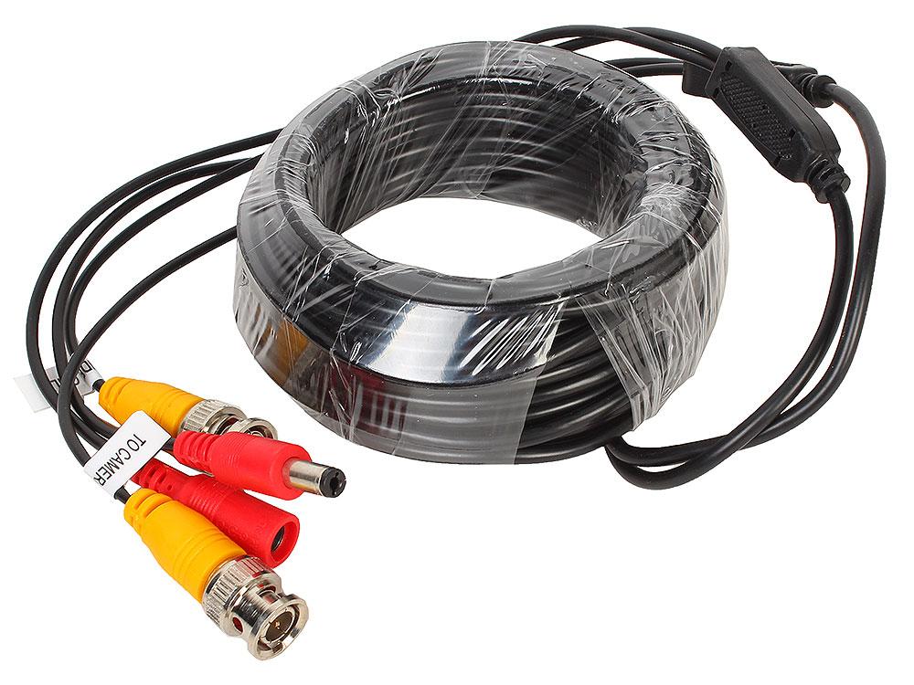 Кабель Видеонаблюдения Ginzzu GC-VP10B видео/питание (длина 10м) кабель удлинительный ginzzu видео питание 20 м