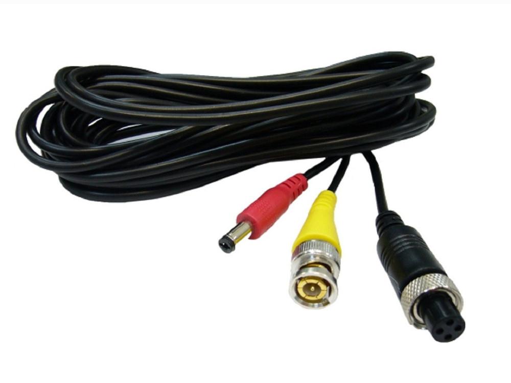 Переходник Orient AVIA to BNC-0.3 Кабель-адаптер для камер видеонаблюдения, AVIA F -> BNC F видео + питание, 0.3 метра