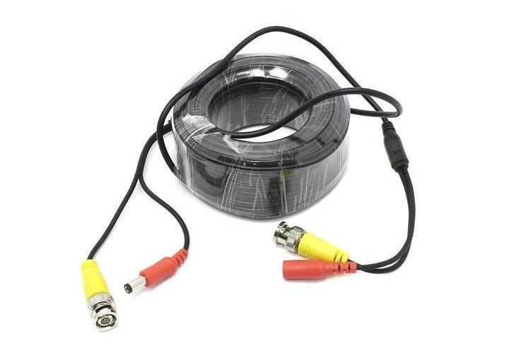 Кабель Видеонаблюдения Ginzzu GC-VP20B видео/питание (длина 20м) кабель удлинительный ginzzu видео питание 30 м
