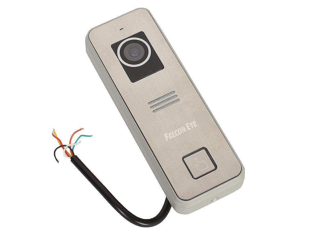 Вызывная панель Falcon Eye FE-iPanel 2 4-х проводная; антивандальная накладная видеопанель; с Led подветкой до 1м, матрица CMOS,  800 ТВл, 12В,  рабоч