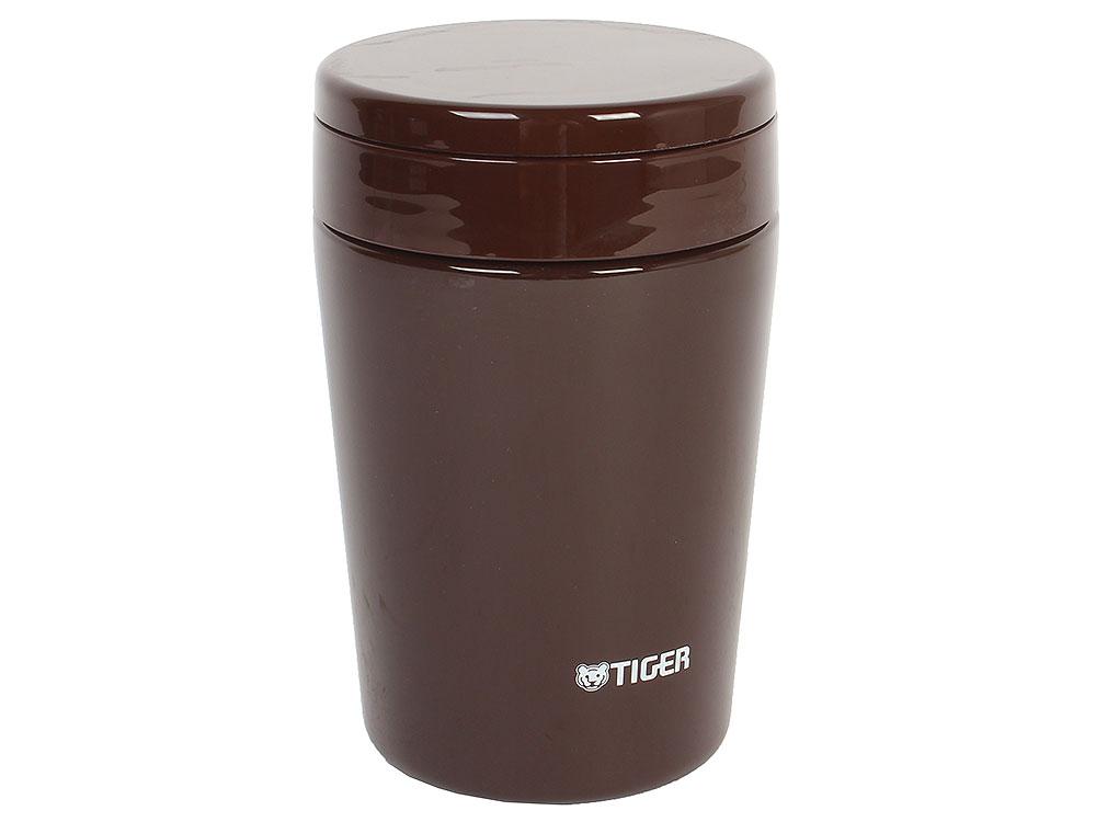 Термоконтейнер для первых или вторых блюд Tiger MCL-A038 Chocolate Brown, 0.38 л (цвет шоколадный, горловина 7 см, конусообразная форма) термос tiger mcl a038 380ml mint blue
