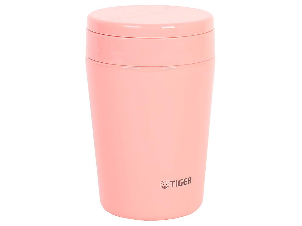 Термоконтейнер для первых или вторых блюд Tiger MCL-A038 Cream Pink, 0.38 л (цвет кремово-розовый, горловина 7 см, конусообразная форма)