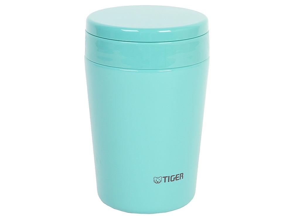 Термоконтейнер для первых или вторых блюд Tiger MCL-A038 Mint Blue, 0.38 л (цвет мятно-голубой, горловина 7 см, конусообразная форма) термос tiger mcl a038 380ml mint blue
