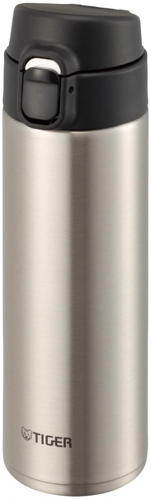Термокружка Tiger MMY-A036 Clear Stainless 0,36 л (откидная крышка на кнопке, нержавеющая сталь, цвет корпуса стальной, крышка черная) термокружка tiger mmy a036 brown 0 36 л 1183532