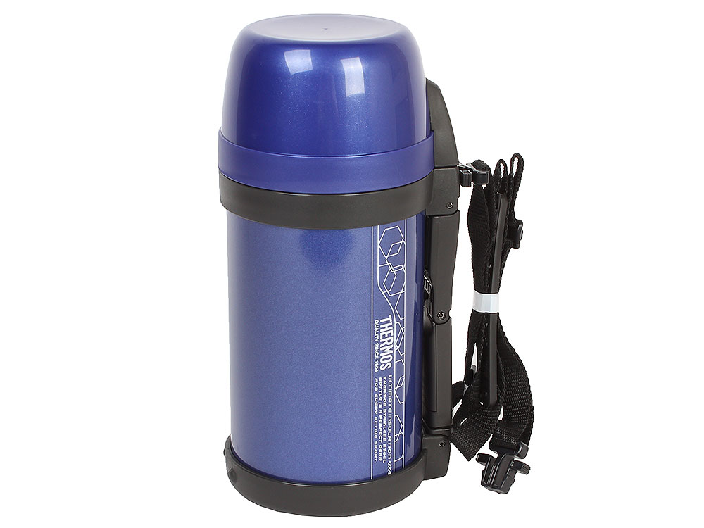 Термос из нержавеющей стали Thermos FDH-2005 MTB Vacuum Inculated Bottle, 1.4 л (цвет синий) lk151 pressure thermos household 36h insulation pot 2 2l 2 5l aluminum alloy thermos 36h vacuum glass liner thermal bottle
