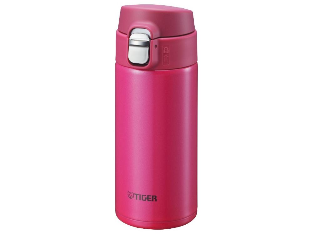Термокружка Tiger MMJ-A036 Passion Pink 0,36 л (цвет страстно-розовый, откидная крышка на кнопке, нержавеющая сталь) термокружка tiger mmp s030 champagne gold 0 3 л нержавеющая сталь цвет шампанского
