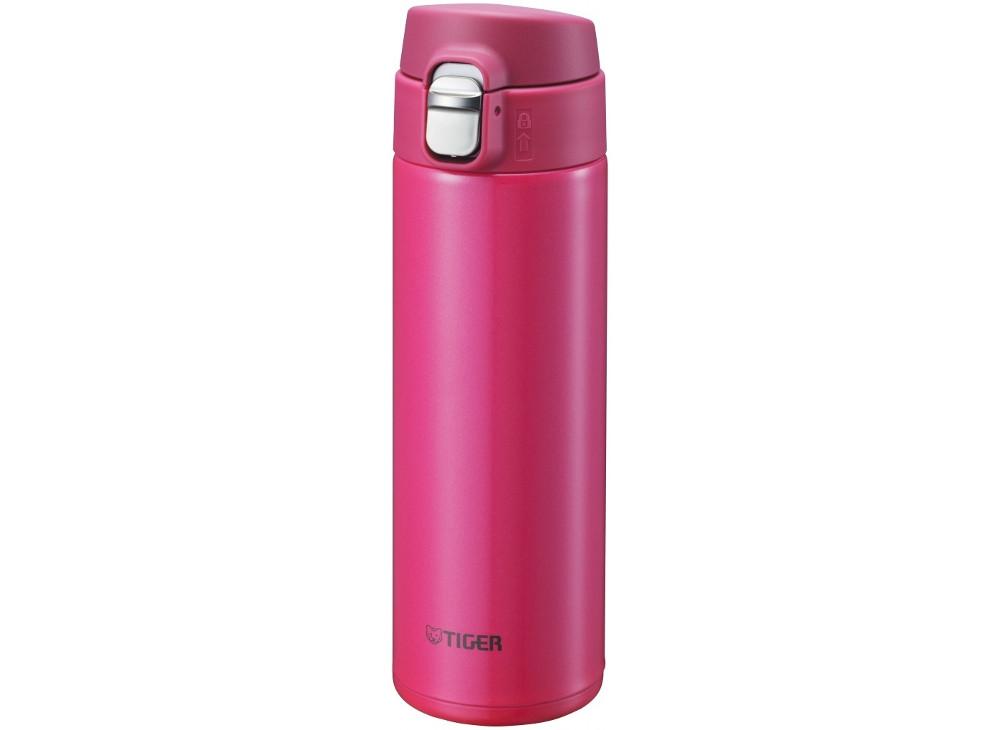 Термокружка Tiger MMJ-A048 Passion Pink 0,48 л (цвет страстно-розовый, откидная крышка на кнопке, нержавеющая сталь) термокружка tiger mmp s030 champagne gold 0 3 л нержавеющая сталь цвет шампанского