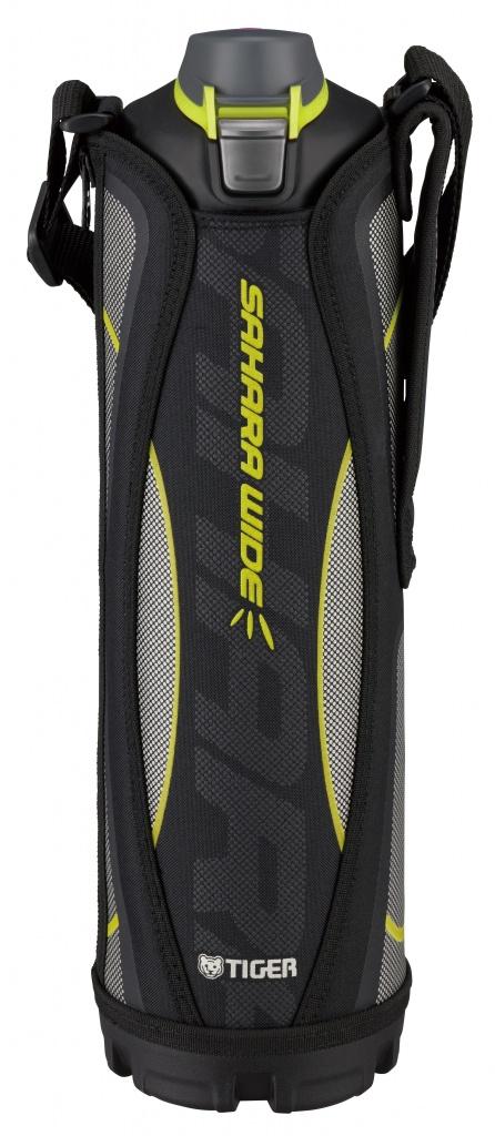 Термос спортивный Tiger MME-C150 Black 1,5 л, цвет черный (для холодных напитков, нержавеющая сталь, ширина горловины 7см, чехол с регулируемым наплеч