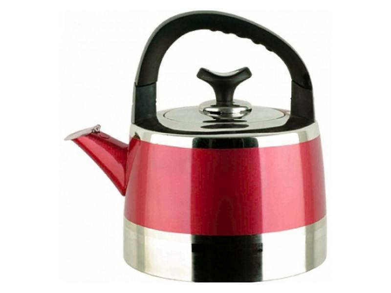 Чайник Bekker BK-S446 2.2 л нержавеющая сталь серебристый красный от OLDI