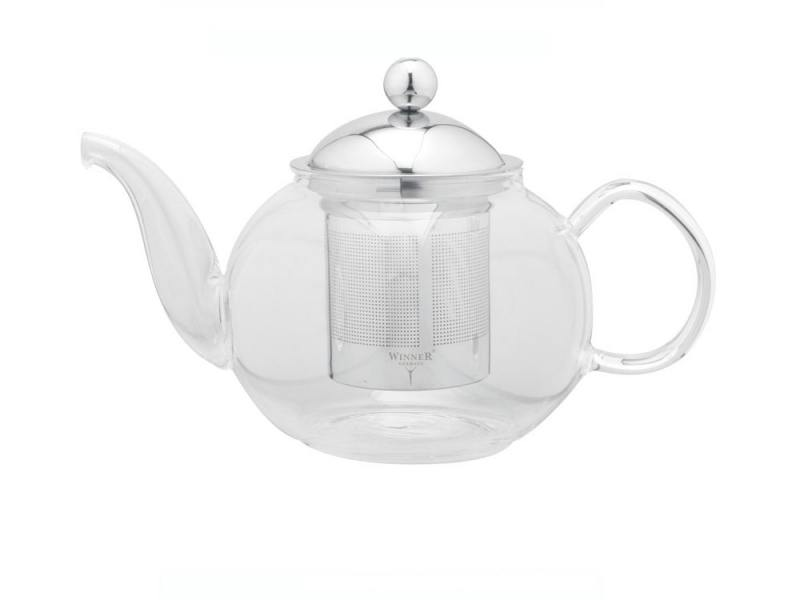 Чайник заварочный Winner WR-5206 0.8 л металл/стекло серебристый прозрачный