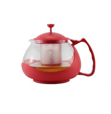 Чайник заварочный Zeidan Z-4106 1.15 л пластик/стекло зелёный