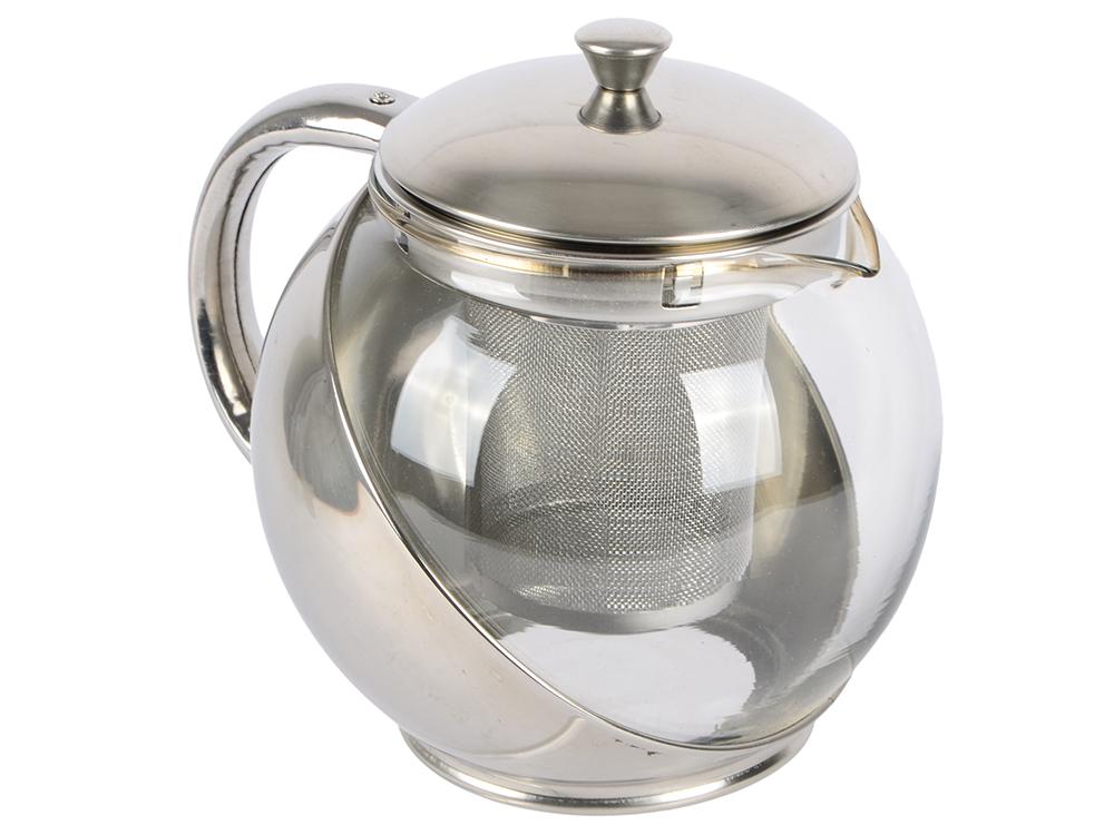 Чайник заварочный Bekker 303-ВК 0.9 л металл/пластик серебристый чехол защитный skinbox lenovo vibe c a2020