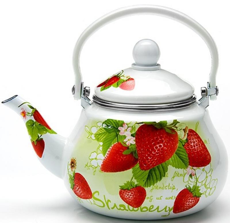 Чайник заварочный Mayer&Boch 23981-МВ 1.5 л металл белый рисунок