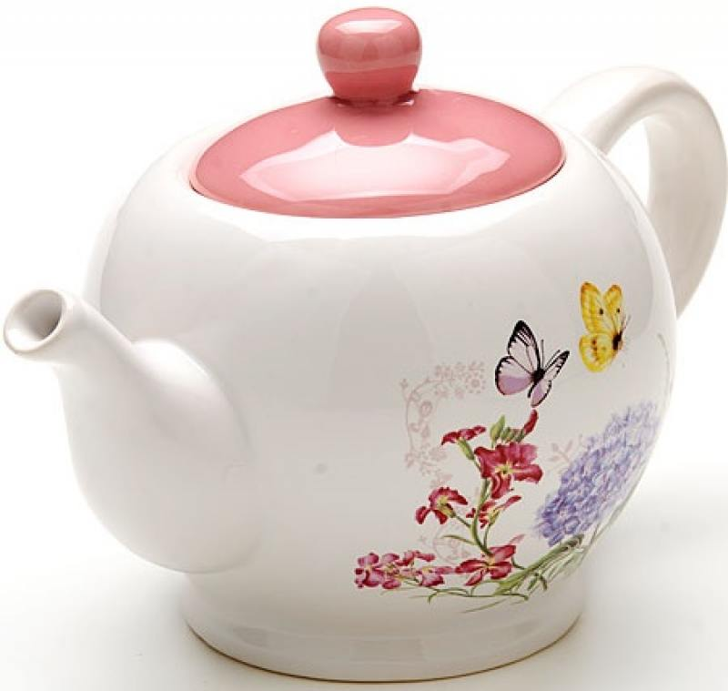 Чайник заварочный Loraine LR-25637 0.95 л керамика белый loraine