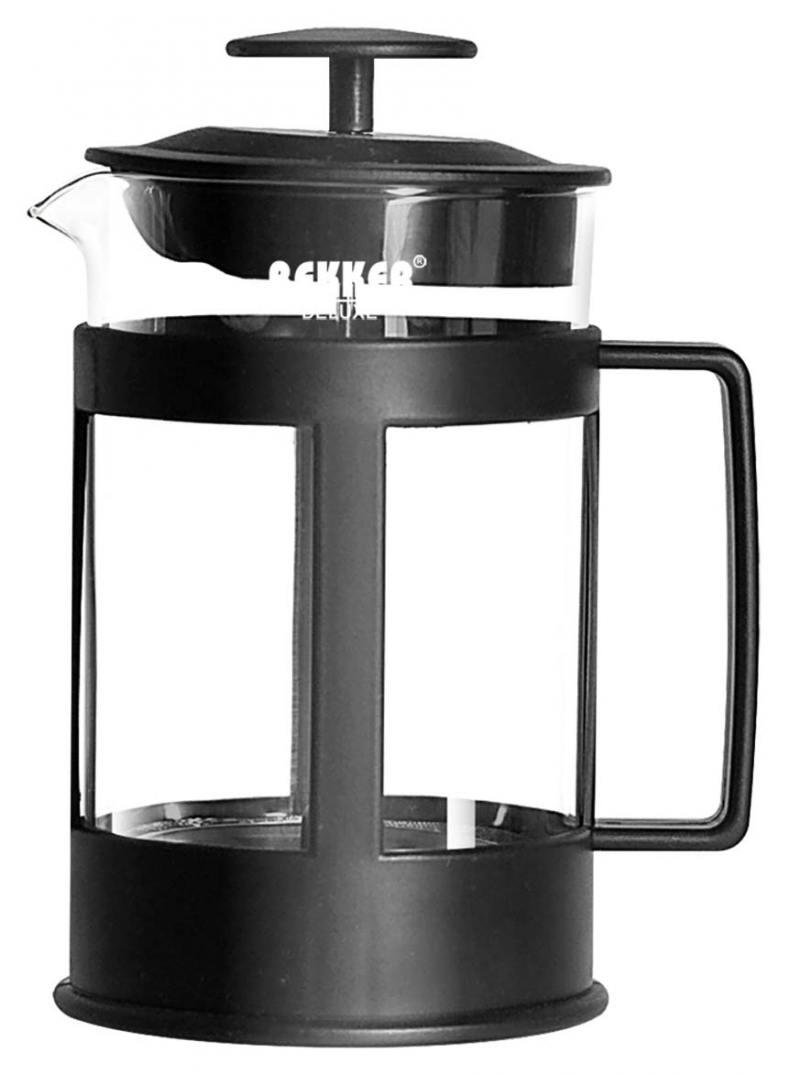 Чайник заварочный Bekker Deluxe BK-369 0.8 л пластик/стекло чёрный прозрачный bekker deluxe bk 369 0 8