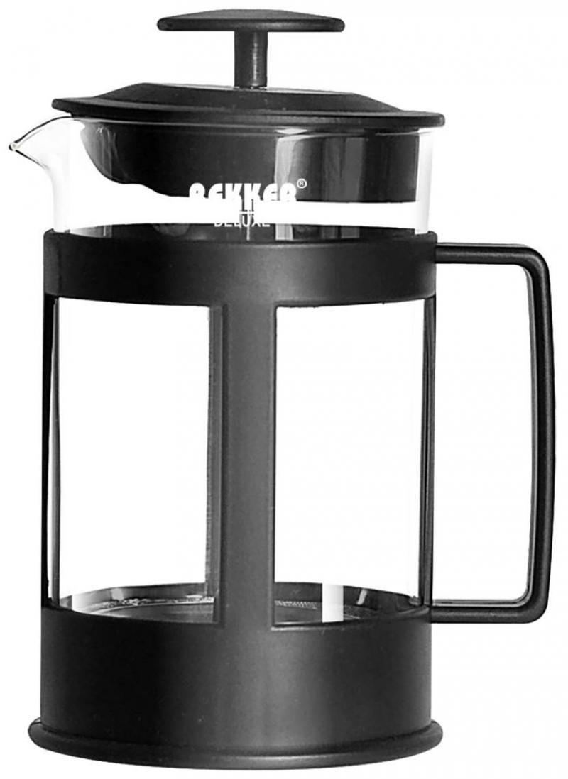 Чайник заварочный Bekker BK-368 0.3 л 0.35 л пластик/стекло прозрачный чайник заварочный bekker 308 вк 1 25 л пластик стекло фиолетовый