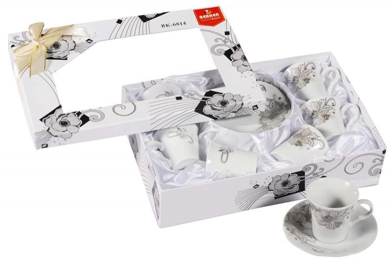Кофейный набор Bekker 6814-BK 12 предметов цена