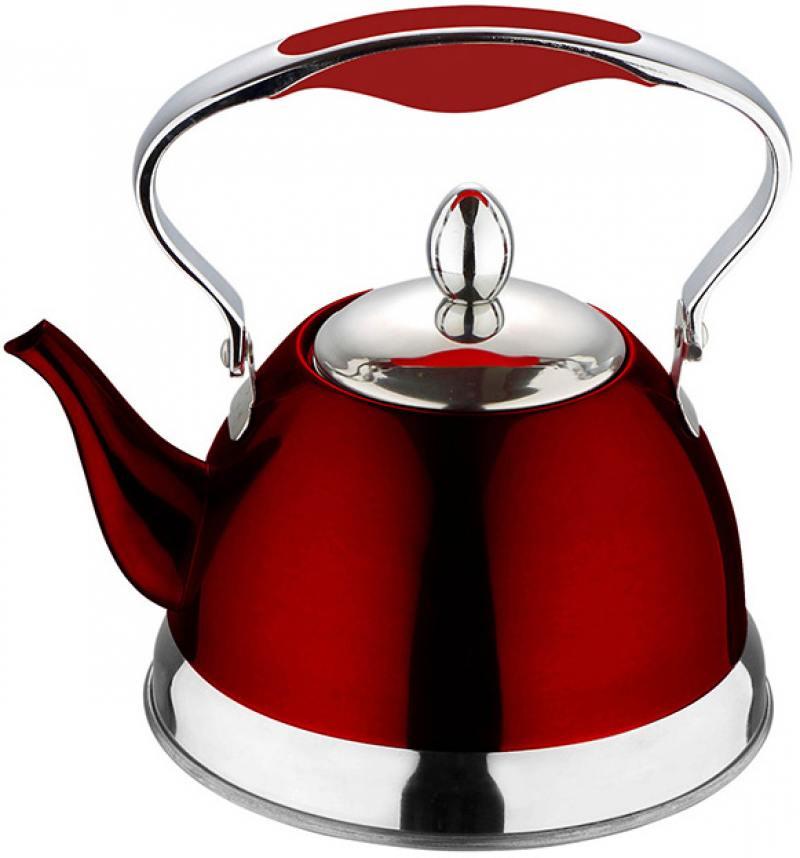 Чайник заварочный Wellberg WB-6112 1 л нержавеющая сталь красный