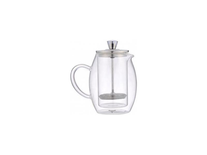 Френч-пресс Winner WR-5216 0.6 л металл/стекло серебристый прозрачный