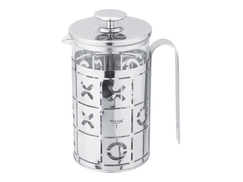 Френч-пресс Winner WR-5215 0.8 л металл/стекло прозрачный