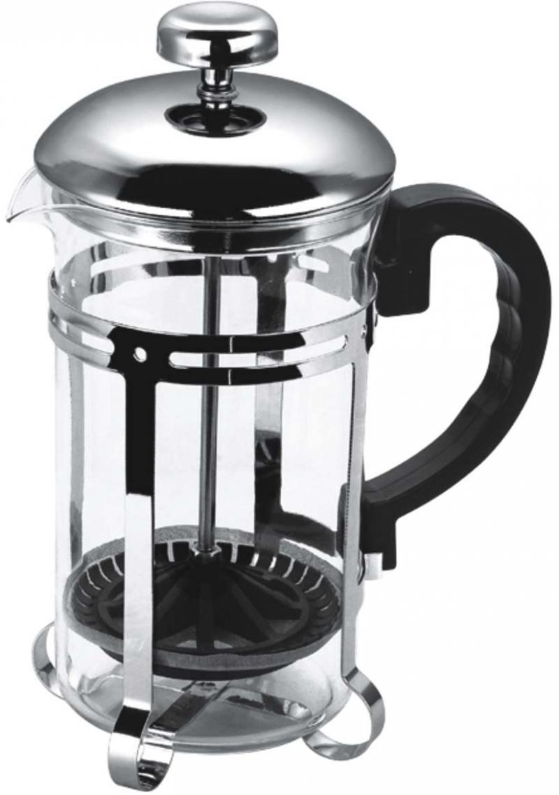 Чайник заварочный Bekker BK-317 0.35 л металл/стекло серебристый чайник заварочный bekker de luxe 387 bk серебристый 0 8 л металл стекло
