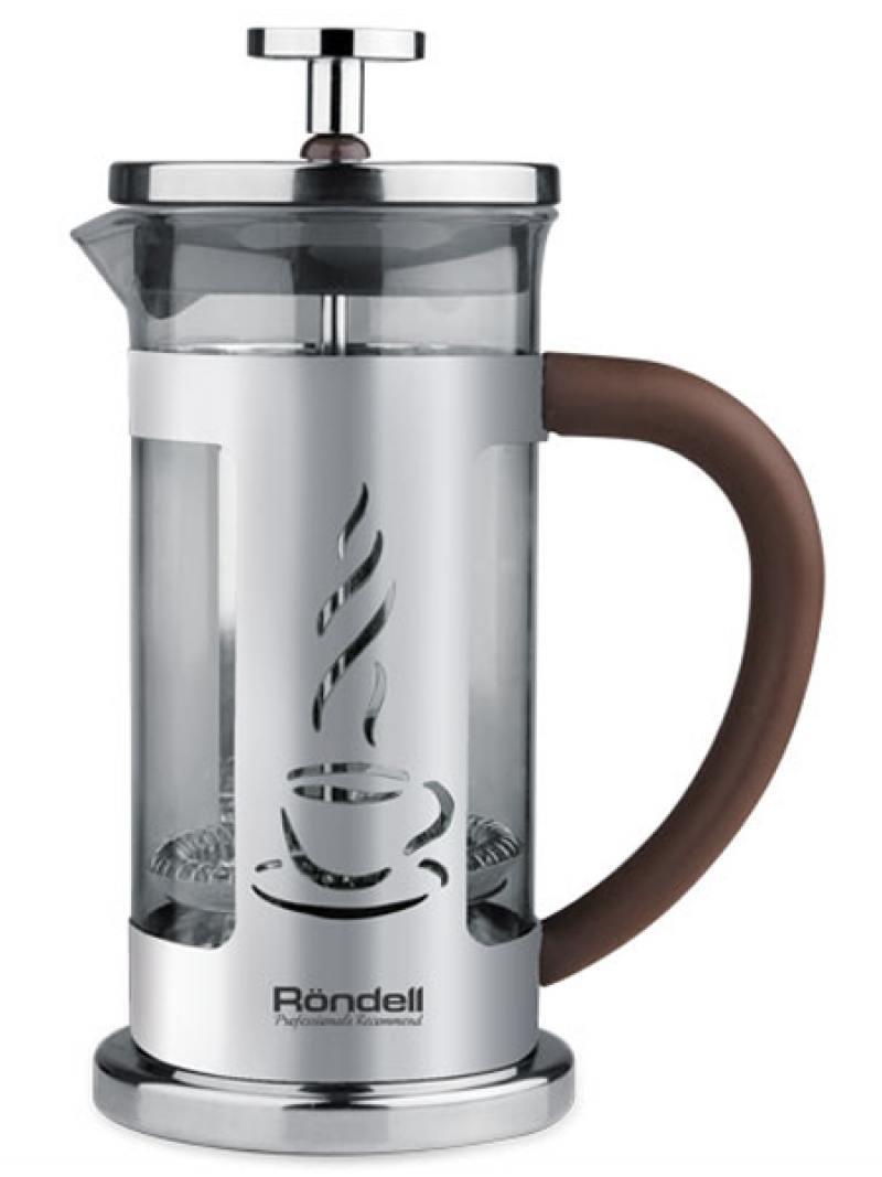 Френч-пресс Rondell Mocco&Latte RDS-491 1 л нержавеющая сталь серебристый 606rd кисть кулинарная rondell mocco