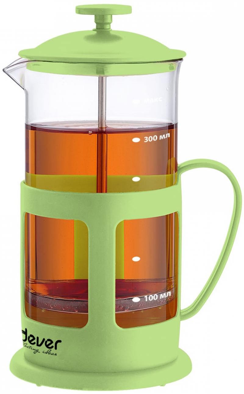 купить Френч-пресс ENDEVER EcoLife FP-352 0.35 л пластик/стекло зелёный недорого