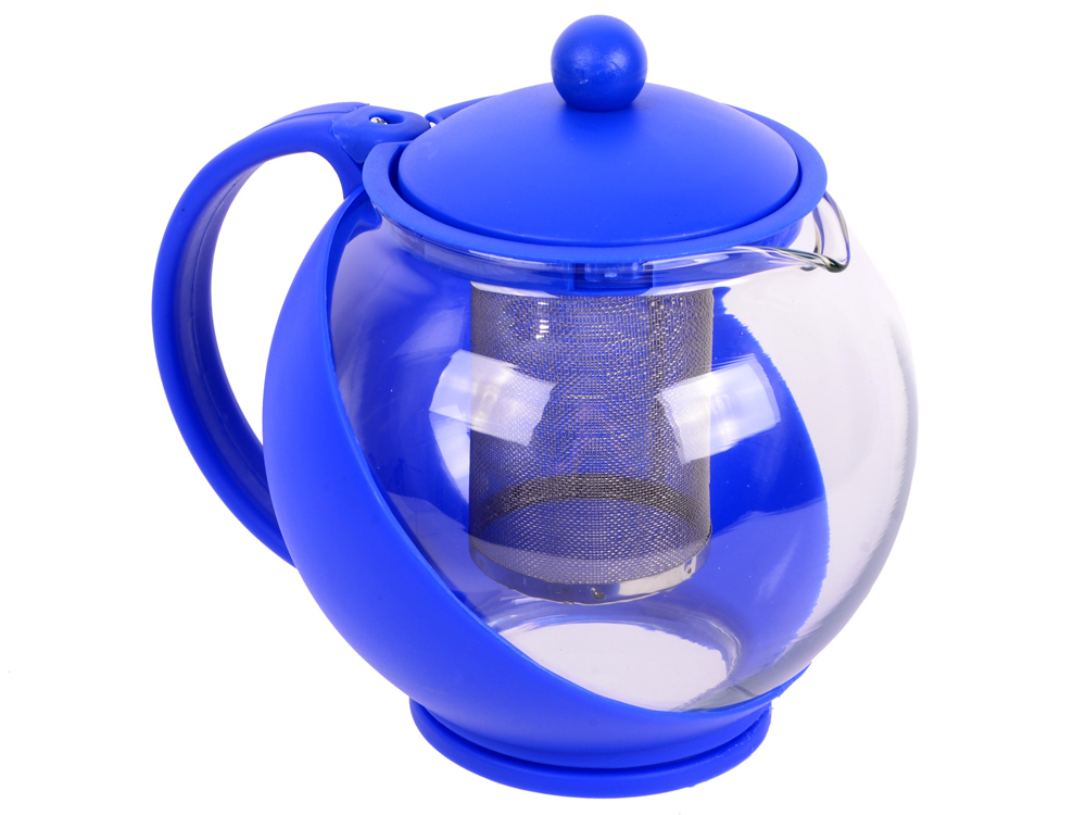 Чайник заварочный Bekker BK-301 1.25 л пластик/стекло чайник заварочный bekker 303 вк серебристый 0 9 л металл пластик