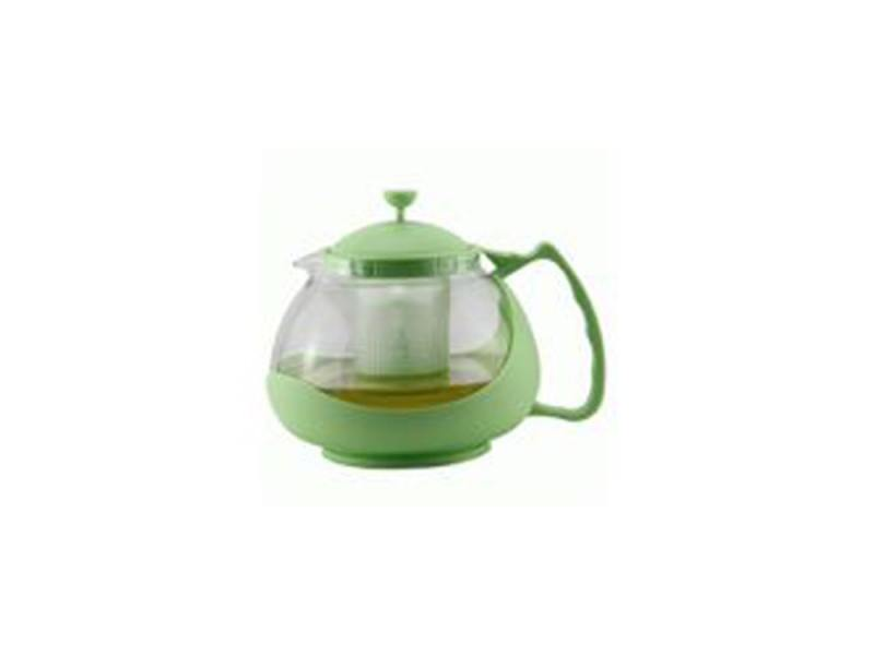 Чайник заварочный Zeidan Z-4105 1.1 л пластик/стекло зелёный