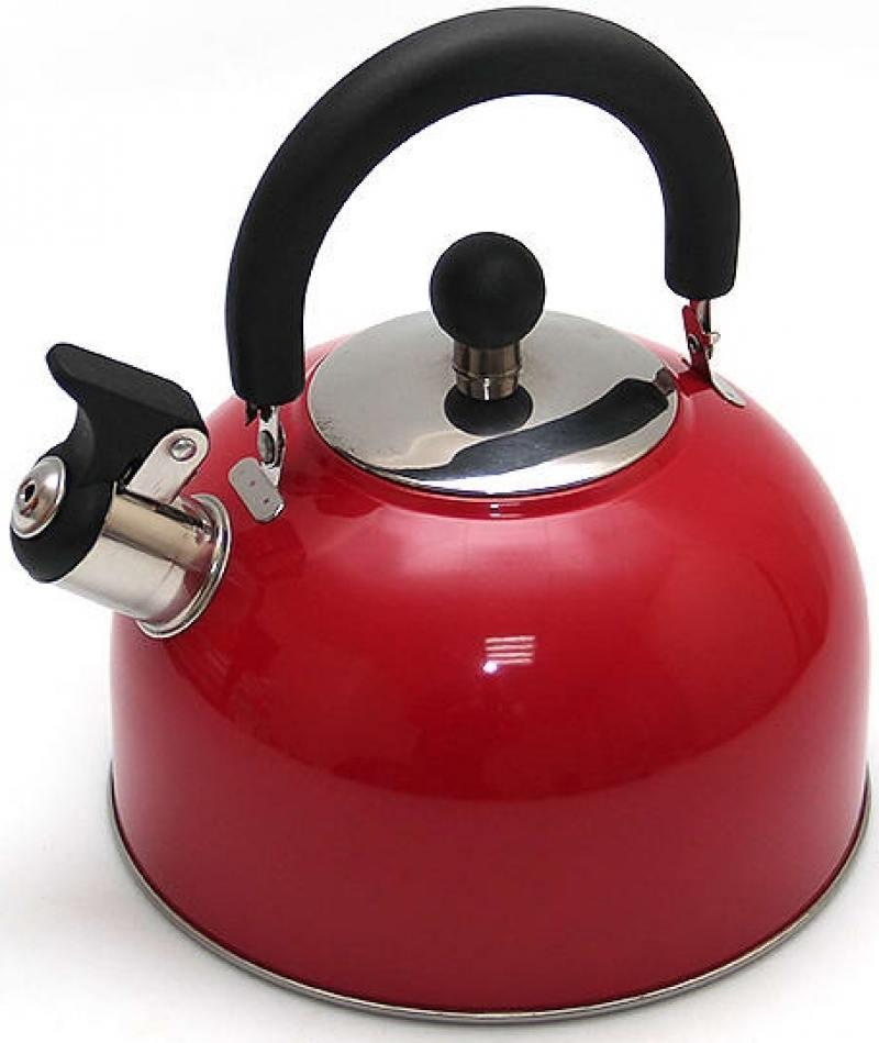 Чайник Катунь KT 105 K 2.5 л нержавеющая сталь красный мантоварка катунь кт 243м 24 см 4 5 л нержавеющая сталь