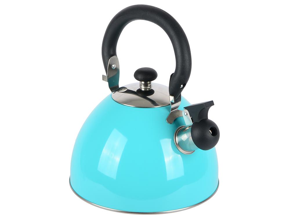 Чайник Катунь КТ-106F 2.5 л нержавеющая сталь бирюзовый чайник катунь кт 106f бирюзовый 2 5 л нержавеющая сталь