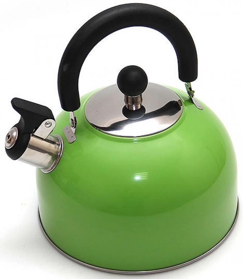 Чайник Катунь KT 105 Z 2.5 л нержавеющая сталь зелёный мантоварка катунь кт 243м 24 см 4 5 л нержавеющая сталь