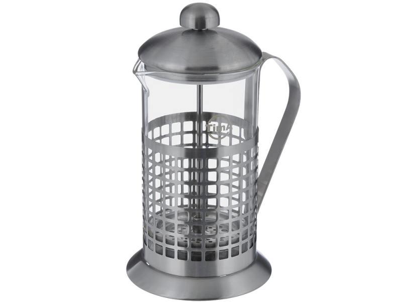 Френч-пресс Tima Бисквит PB-100 1 л металл/стекло серебристый