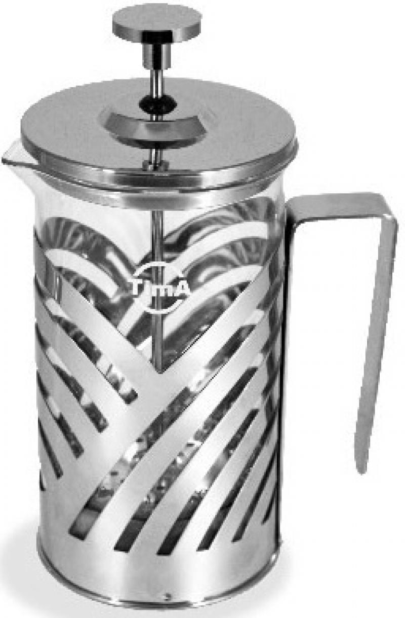 Френч-пресс Tima FB 800 серебристый 0.8 л металл/стекло