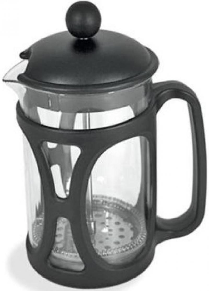 Френч-пресс Tima PM-800 чёрный 0.8 л пластик/стекло кофемолка ручная tima сферическая кс 02