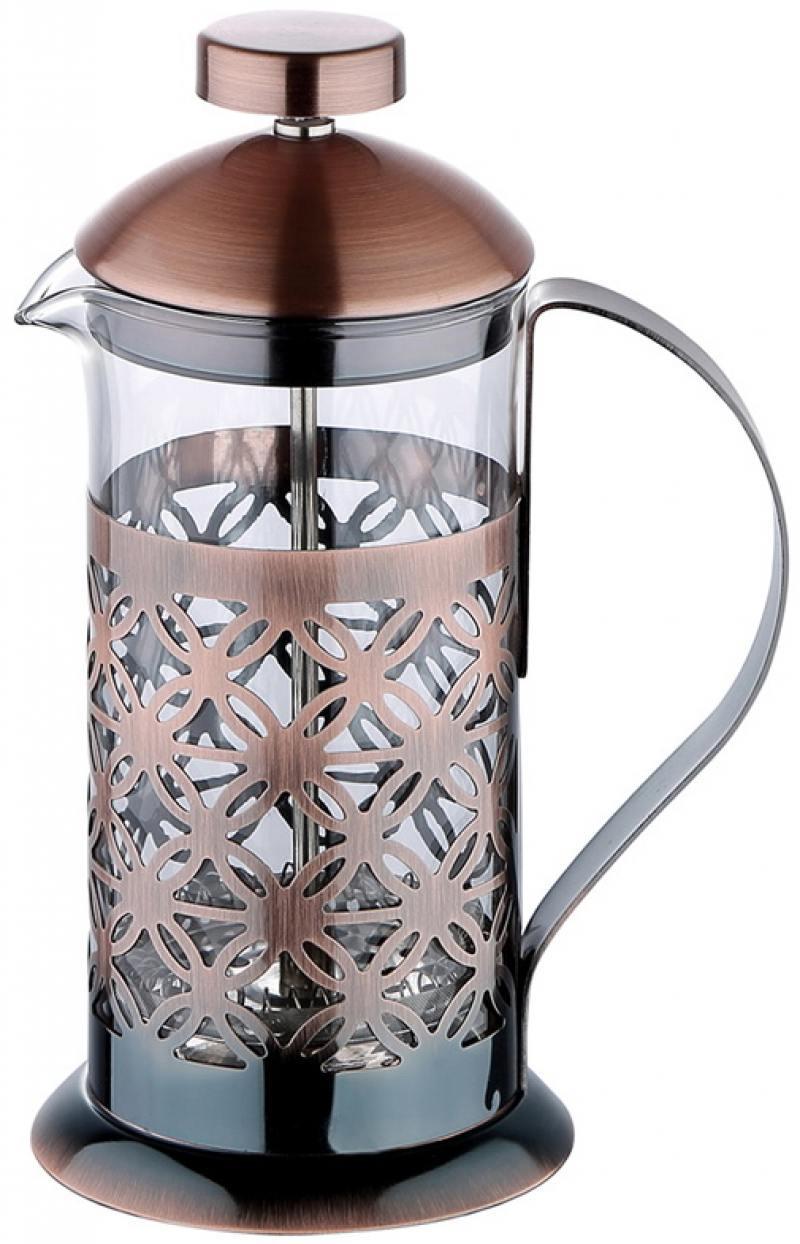 Френч-пресс Wellberg Wellberg WB-6971 бирюзовый 0.8 л металл/стекло