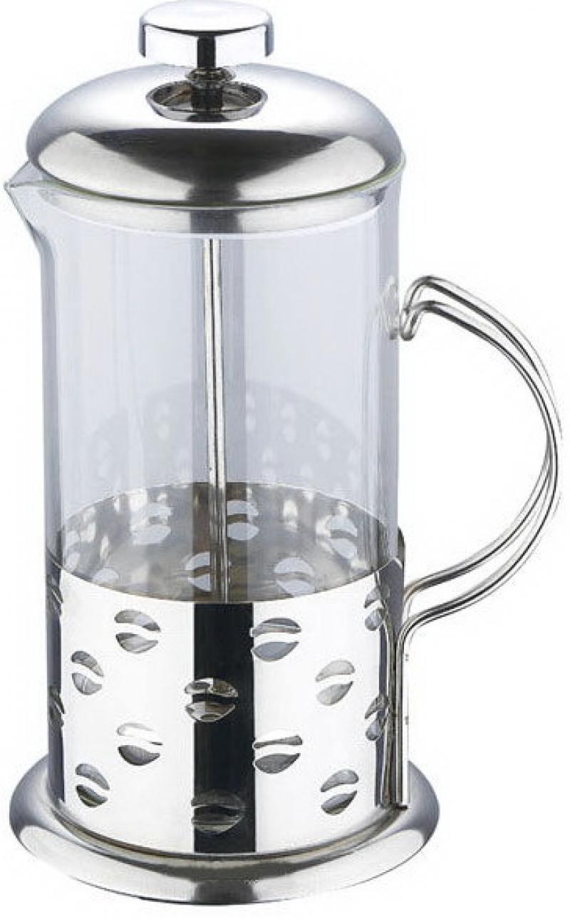 Френч-пресс Wellberg WB-6982 серебристый 0.8 л металл/стекло