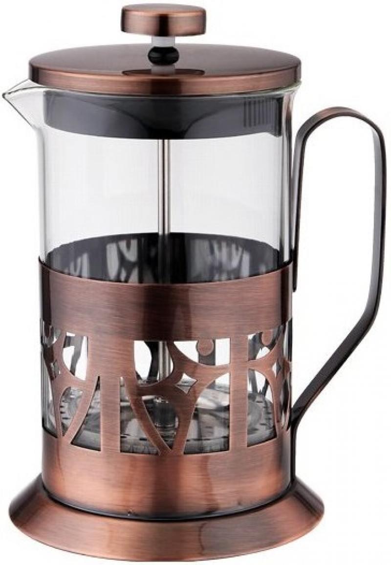 Френч-пресс Tima FA 600 медный 0.6 л металл/стекло френч пресс tima бисквит pb 350 0 35 л металл стекло серебристый